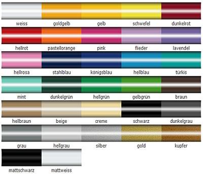 Aufkleberfarben
