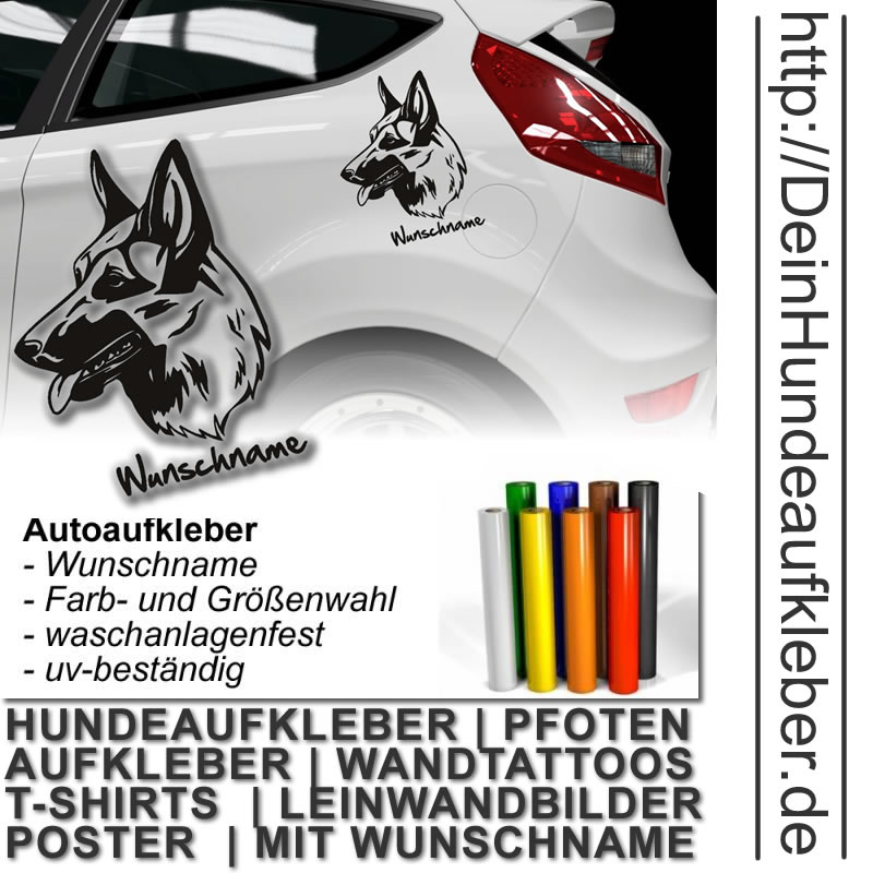 Deutscher Schäferhund Deinhundeaufkleber