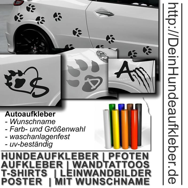 Tattoo / Aufkleber von Hundepfoten fürs Auto